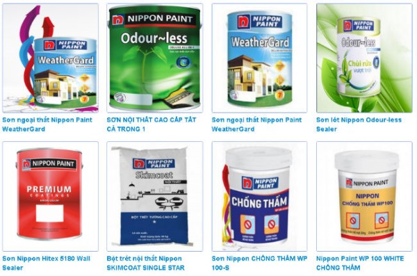 Các loại sơn Nippo có trên thị trường