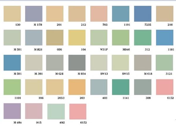 Những màu sơn nổi bật được sừ dụng hiện nay