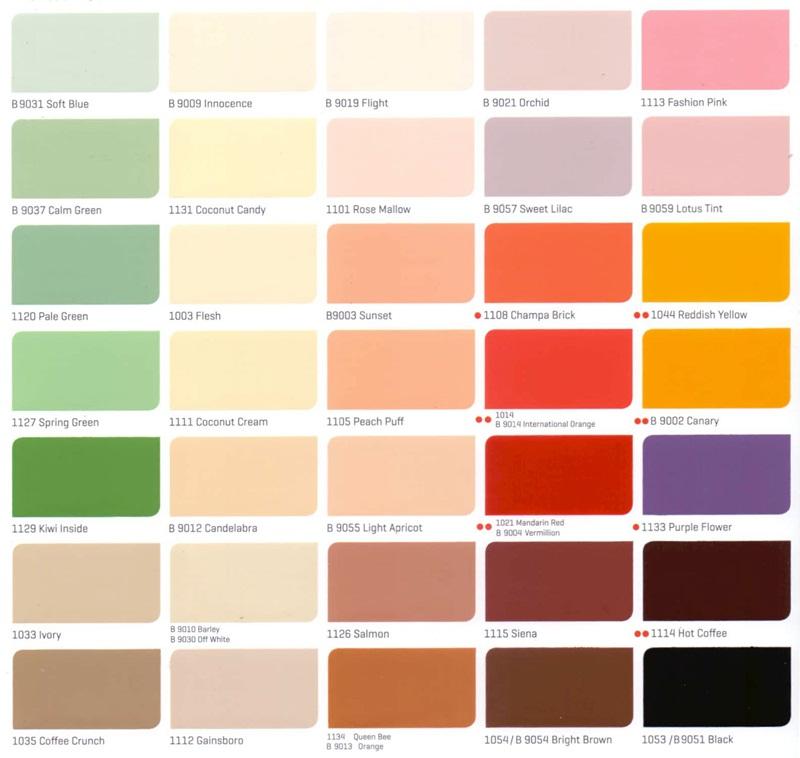 Bảng màu sơn nội thất Nippon