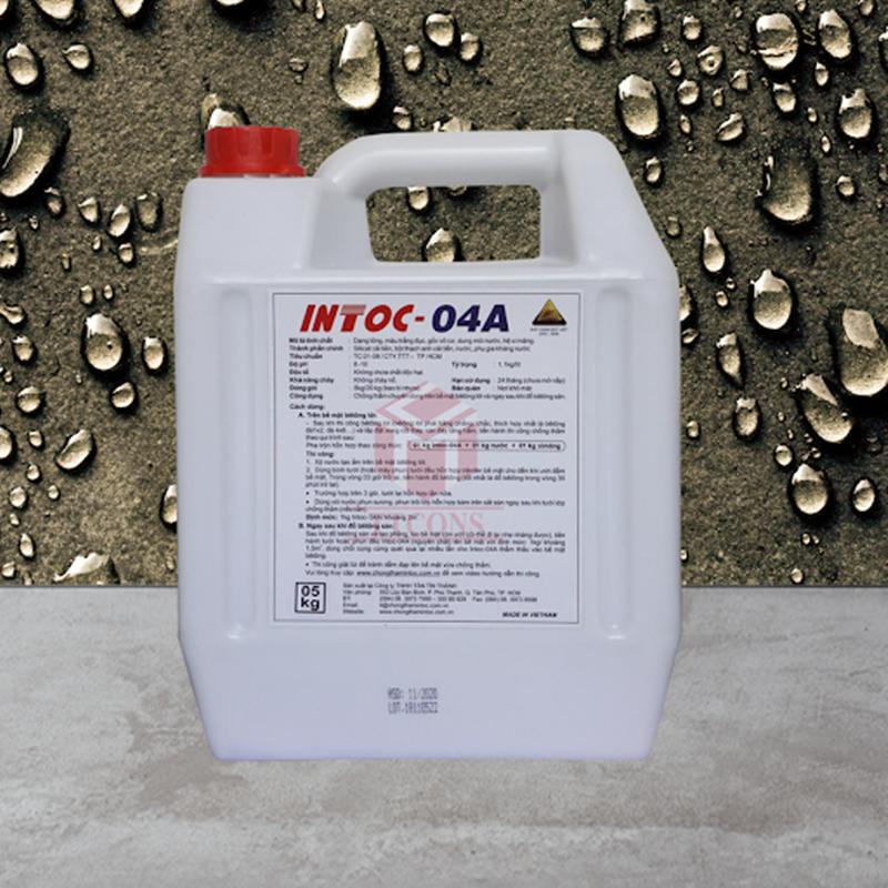 Intoc-04A là chất chống thấm chuyên dụng cho bê tông
